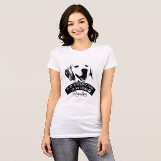 Camiseta t-shirt do cão do golden retriever
