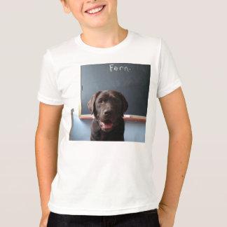 Camiseta T-shirt do cão do laboratório do chocolate