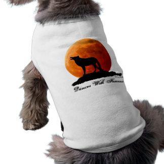 Camiseta T-shirt do cão do lobo e da Lua cheia