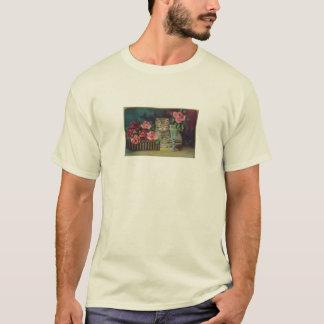 Camiseta T-shirt do cartão do gato do vintage