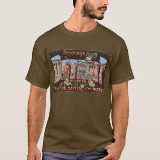 Camiseta T-shirt do cartão do vintage de Detroit