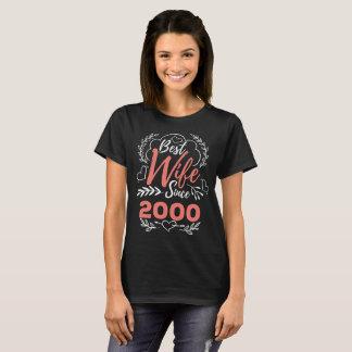 Camiseta T-shirt do casamento 17 de casamento anos de