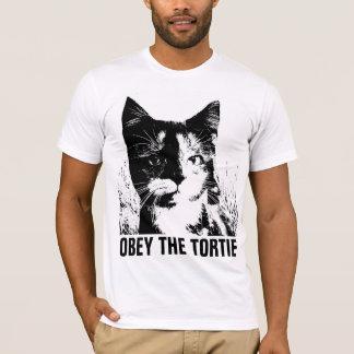 Camiseta T-shirt do CAT da CONCHA DE TARTARUGA TORTIE
