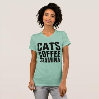 Camiseta T-shirt do CAT do VIGOR, CAFÉ dos GATOS