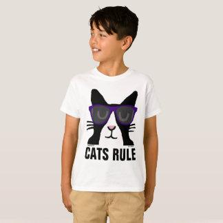 Camiseta T-shirt do CAT para miúdos, REGRA dos GATOS