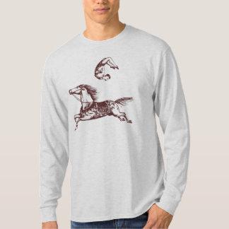 Camiseta T-shirt do cavaleiro de truque da acrobata do