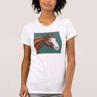Camiseta T-shirt do cavalo da pintura de Overo
