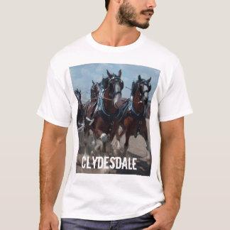 Camiseta T-shirt do cavalo de Clydesdale dos homens