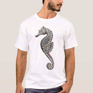 Camiseta T-shirt do cavalo marinho da zebra do recife de