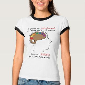 Camiseta T-shirt do cérebro da arte