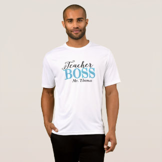 Camiseta T-shirt do chefe do professor (azul)