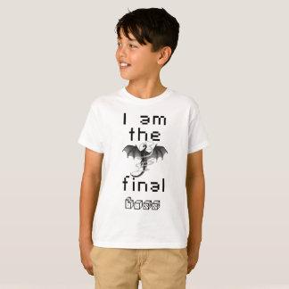 """Camiseta T-shirt do chefe final do miúdo """"eu sou"""""""