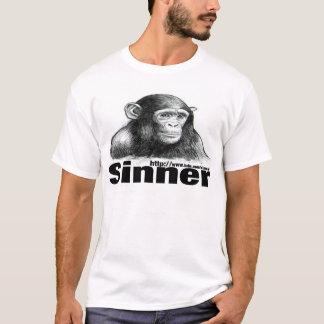Camiseta T-shirt do chimpanzé do pecador - por Brett Keane