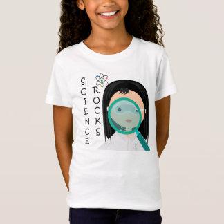 Camiseta T-shirt do cientista da menina