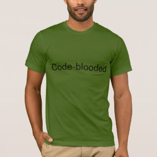 "Camiseta t-shirt do ""Código-blooded"" de Code.org"