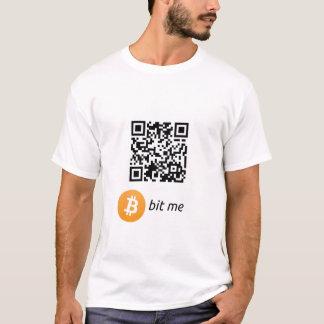 Camiseta T-shirt do código da carteira QR de Bitcoin