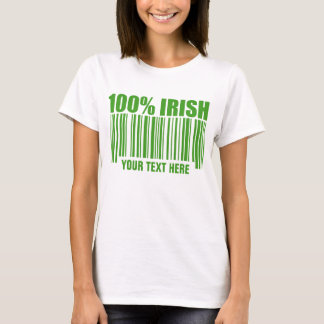 Camiseta T-shirt do código de barras do irlandês de 100%