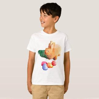 """Camiseta T-shirt do """"COELHINHO DA PÁSCOA"""" do menino"""