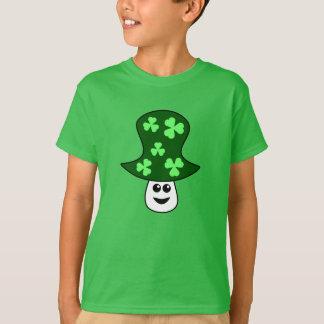 Camiseta T-shirt do cogumelo de St Patrick (criança)