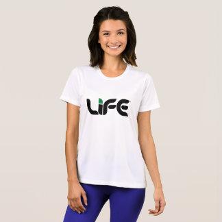 Camiseta T-shirt do concorrente do Esporte-Tek da vida das