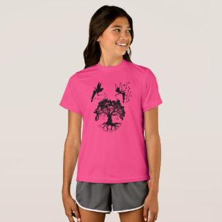 Camiseta T-shirt do concorrente do Esporte-Tek das meninas