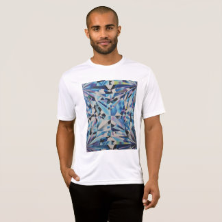 Camiseta T-shirt do concorrente do Esporte-Tek do diamante