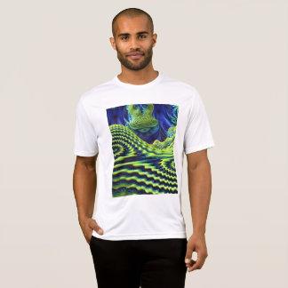 Camiseta T-shirt do concorrente do Esporte-Tek dos homens