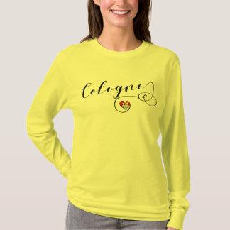 Camiseta T-shirt do coração da água de Colônia, bandeira de