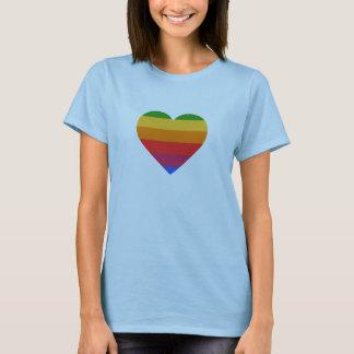 Camiseta T-shirt do coração de Apple Mac