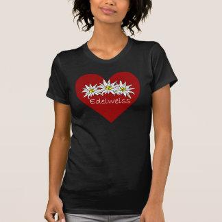 Camiseta T-shirt do coração de Edelweiss