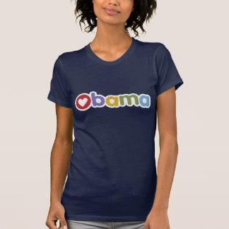 Camiseta T-shirt do coração de Obama