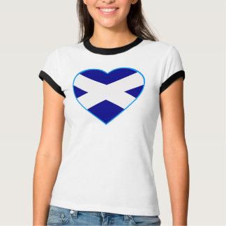 Camiseta T-shirt do coração de Saltire do Scottish