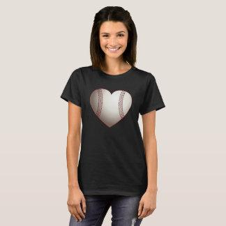 Camiseta T-shirt do coração do basebol