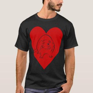 Camiseta T-shirt do coração do jaspe