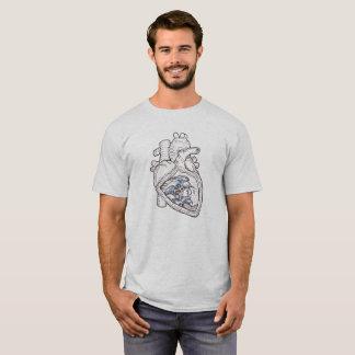 Camiseta T-shirt do coração do oceano