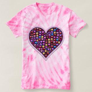 Camiseta T-shirt do coração dos namorados