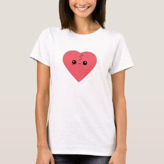Camiseta T-shirt do coração quebrado de Kawaii