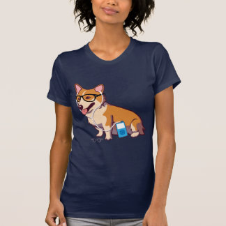 Camiseta T-shirt do Corgi do hipster (sem texto)