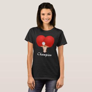 Camiseta T-shirt do costume do coração do ténis de mesa da