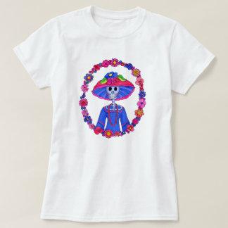Camiseta T-shirt do crânio de Catrina