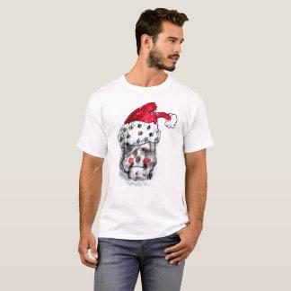 Camiseta T-shirt do crânio de Papai Noel