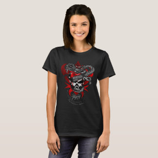 Camiseta T-shirt do crânio do dragão