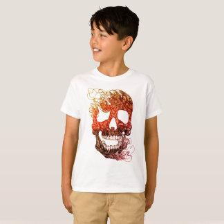 Camiseta T-shirt do crânio dos miúdos TAGLESS
