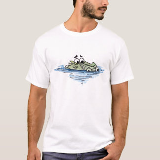 Camiseta T-shirt do crocodilo da natação