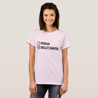 Camiseta T-shirt do dançarino de balé das mulheres