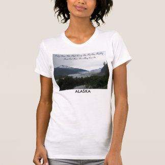Camiseta T-shirt do derretimento do gelo de Alaska