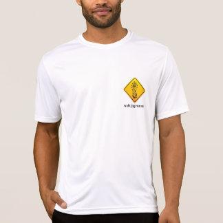 Camiseta T-shirt do desempenho de WalkJogRun