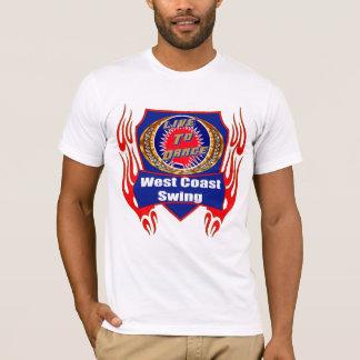 Camiseta T-shirt do desgaste da dança do balanço da costa