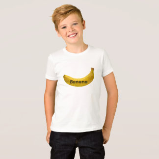 Camiseta T-shirt do design da banana do miúdo do menino