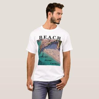 Camiseta T-shirt do design da praia